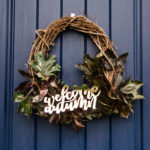 Organic and Foiled- Autumn Wreath with free printable hand lettering