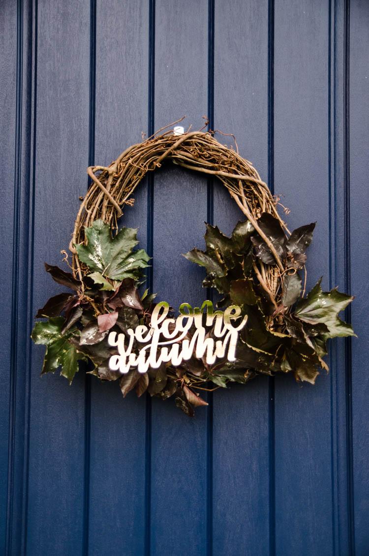 Welcome Autumn Wreath Lemon Thistle