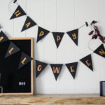 DIY Copper Foil Halloween Garland