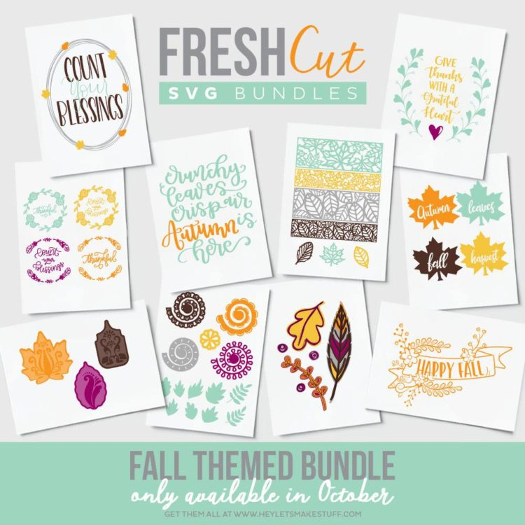 Fall Themed SVG Cut File Bundle- Available for October