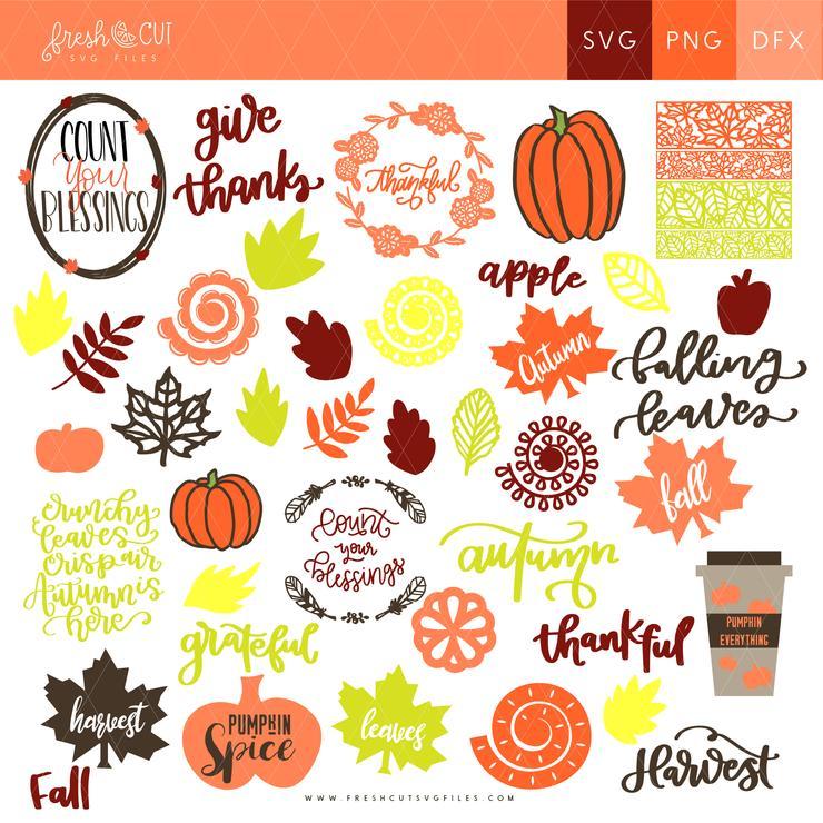 Fall Fresh Cut SVG Bundle
