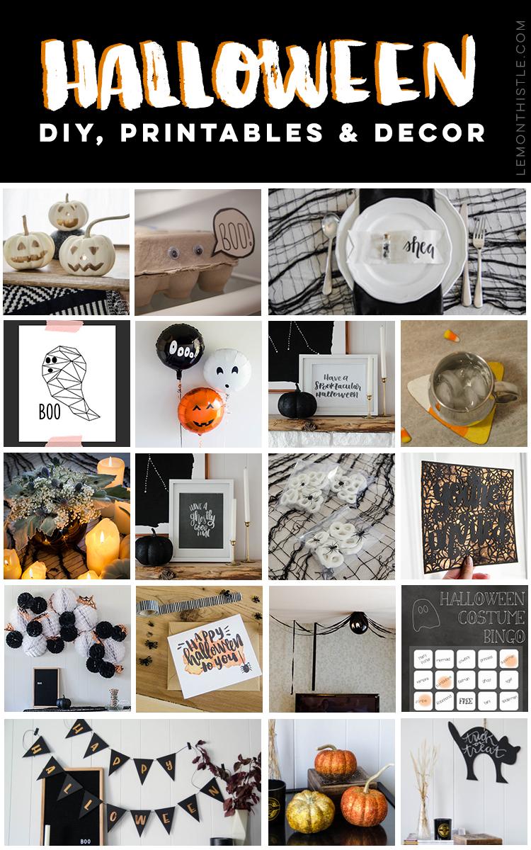 18 Rad halloween crafts, decor and printables