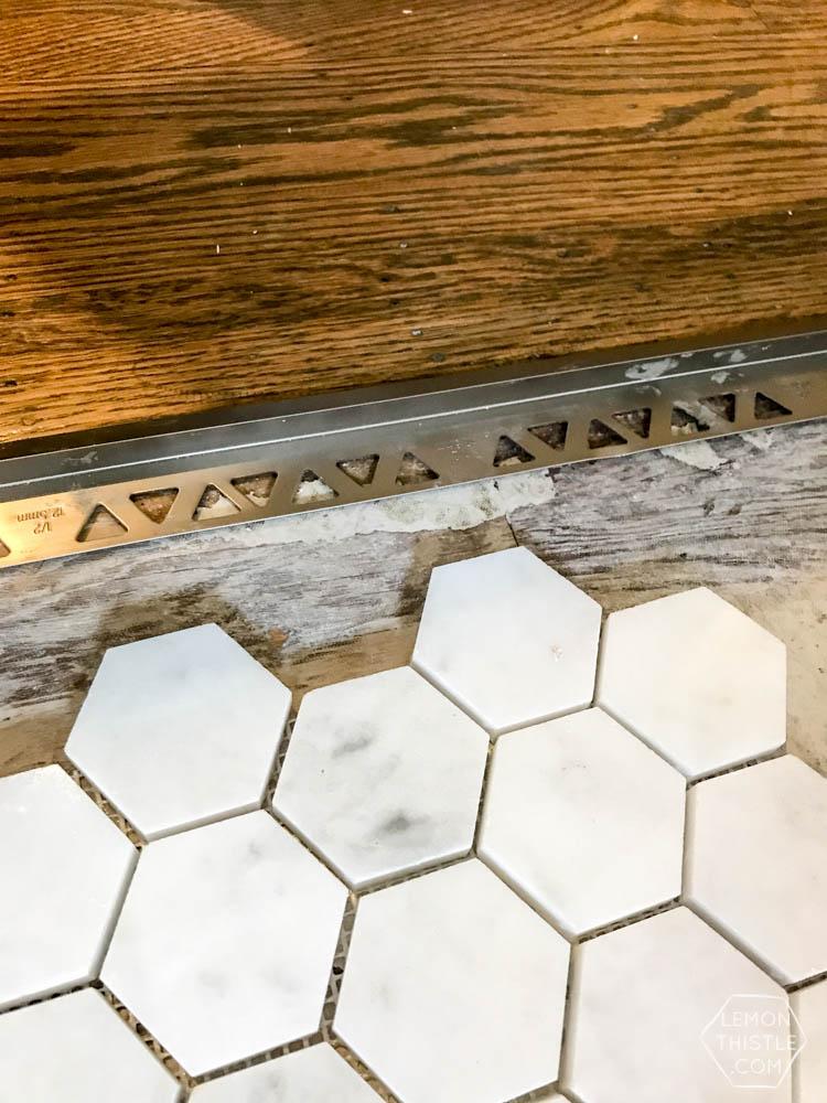 DIY Tiling with Marble- Bathroom One Room Challenge Week 4