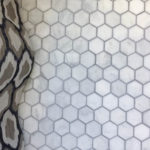 DIY Tiling with Marble- Bathroom One Room Challenge Week 4
