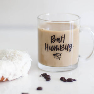 Bah Humbug! I love this handlettered holiday mug! Perfect Christmas gift.