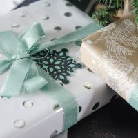 The easiest way to cut fabric for fabric ribbon- beautiful for holiday gift wrap!