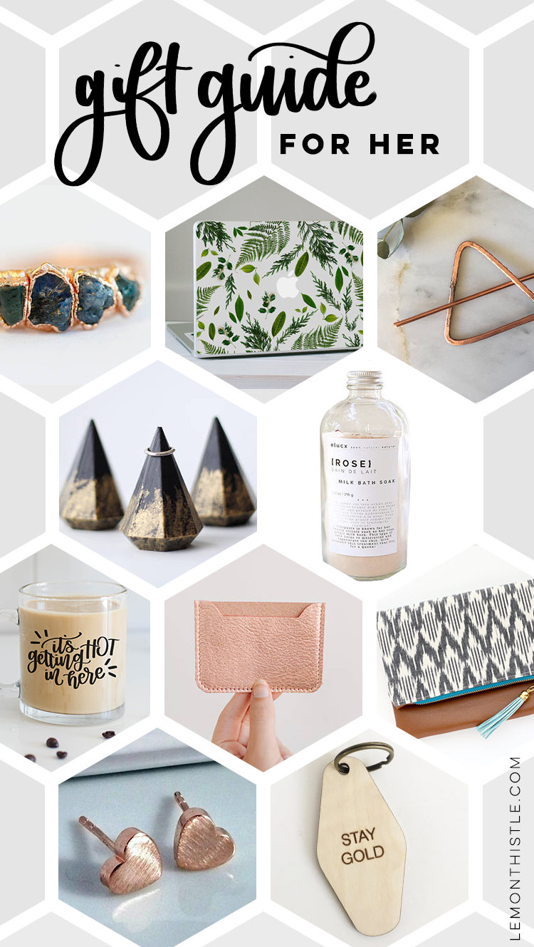 Etsy gift guide for her- perfect gifts for a gifrlfriend or best friend