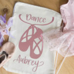DIY Dance Bag with metallic iron on (free design!)