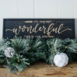 DIY Modern Wood Holiday Sign- The Most Wonderful Time of the Year