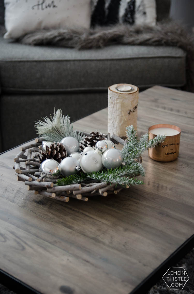 Modern Christmas Decorations- love this Family Friendly Holiday Home tour