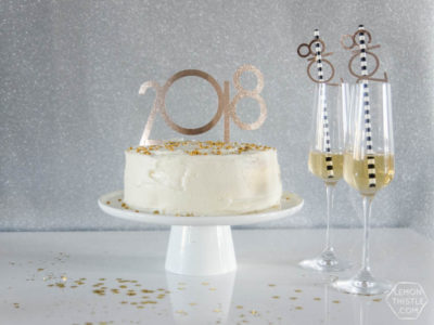 DIY 2018 Cake Toppers & Straw Decor... using fonts and a Cricut... this is amazing! I love this material- so much better than paper.