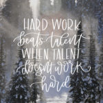 Hard Work Beats Talent- December Tech Wallpapers