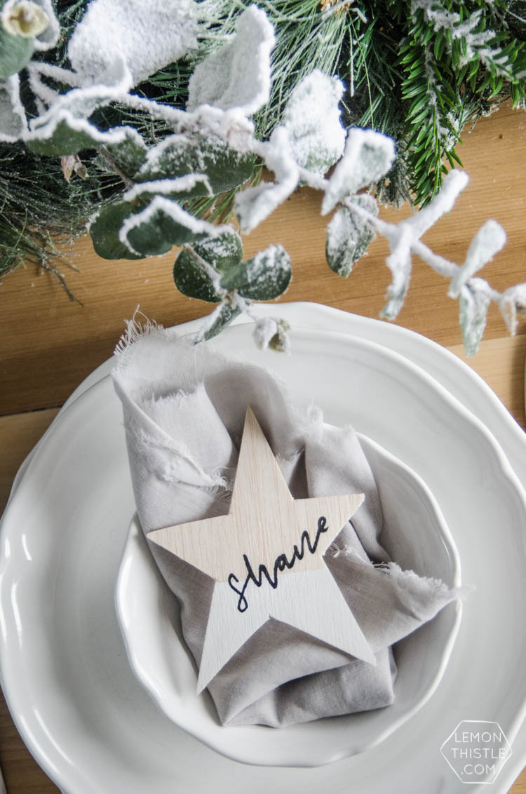 Frosted Holiday Tablescape - Lemon Thistle