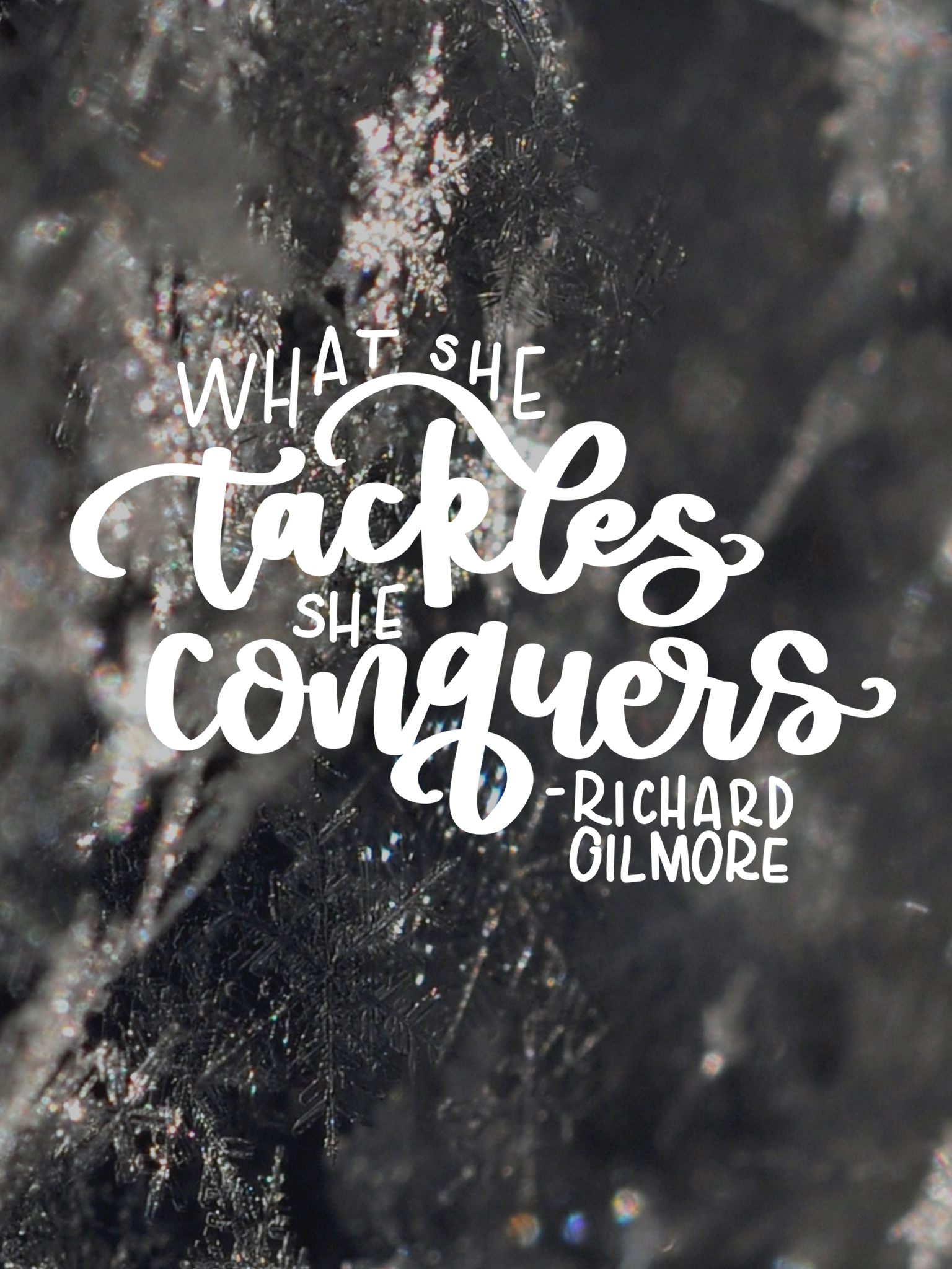 Quotes January What She Tackles She Conquers January Tech Wallpapers  Lemon Thistle