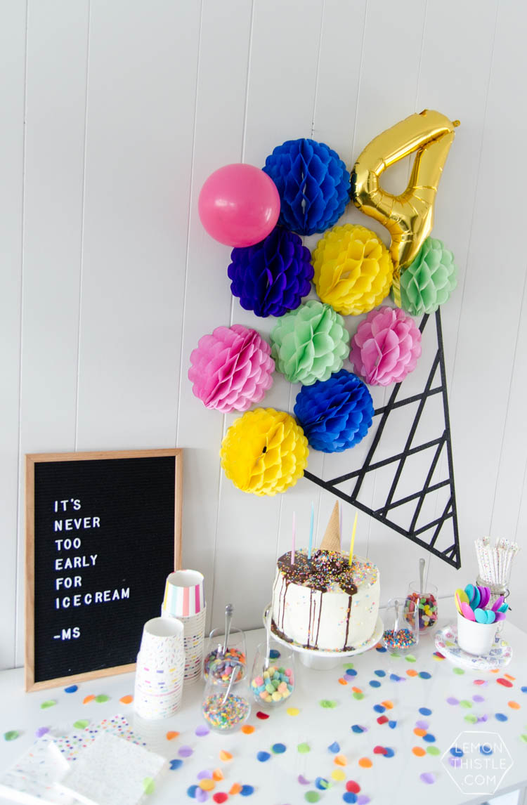 A modern DIY Ice cream party- the perfect kids birthday party- plus, it's gender neutral!
