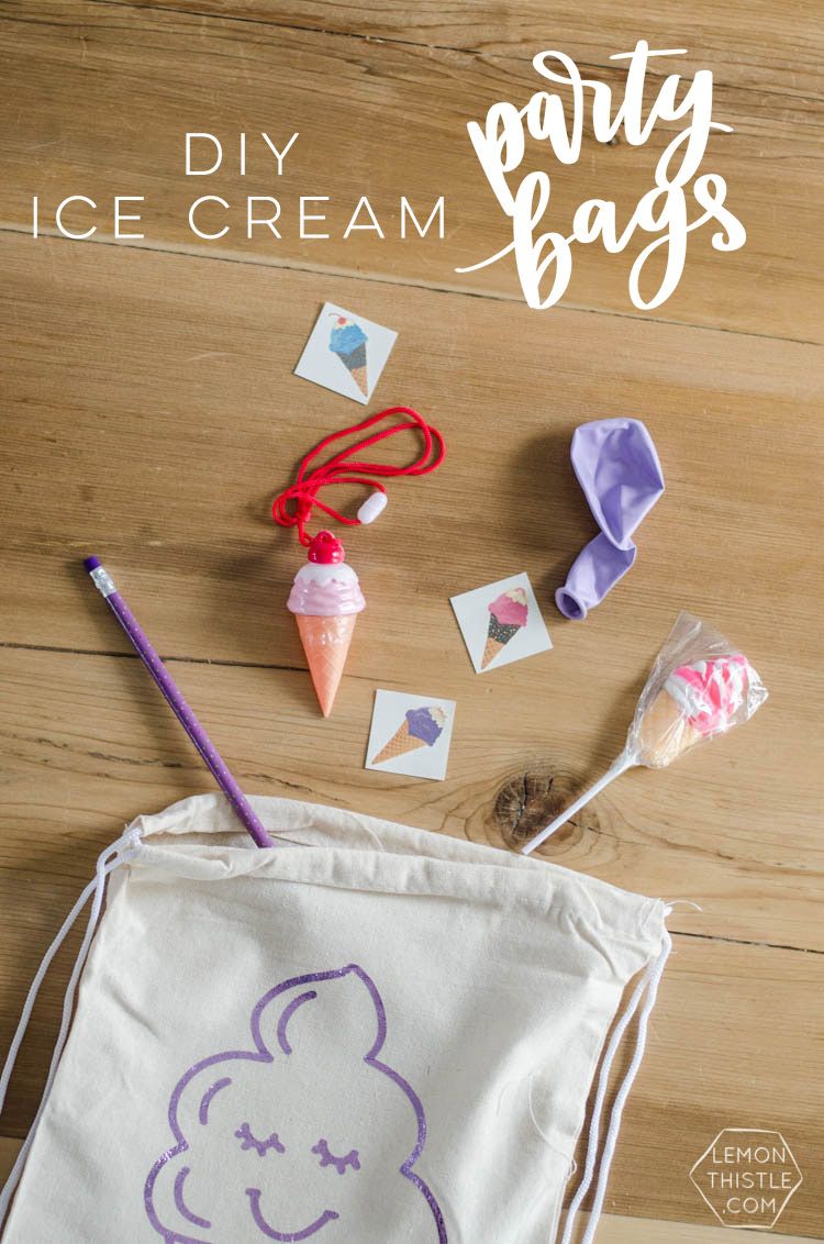 These DIY Ice Cream Party Bags are SO FUN! I love the free designs and how kids can paint their own. Perfect for a kids birthday party