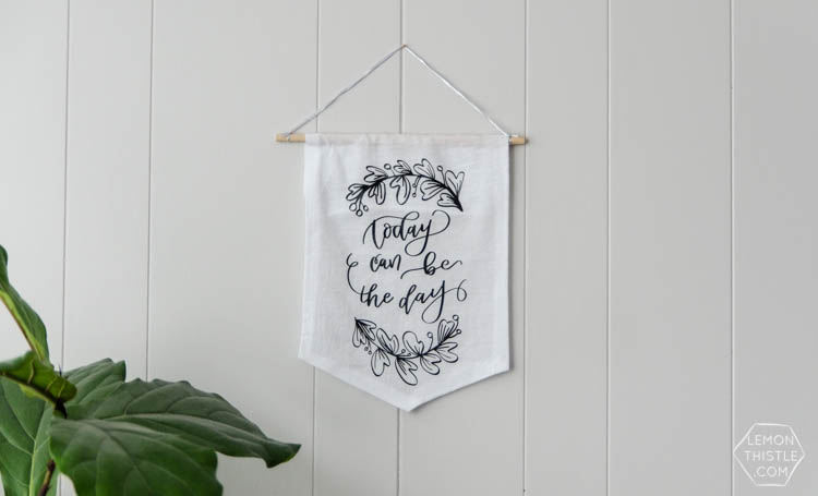 DIY No Sew Pennants- I love these inspirational quotes!