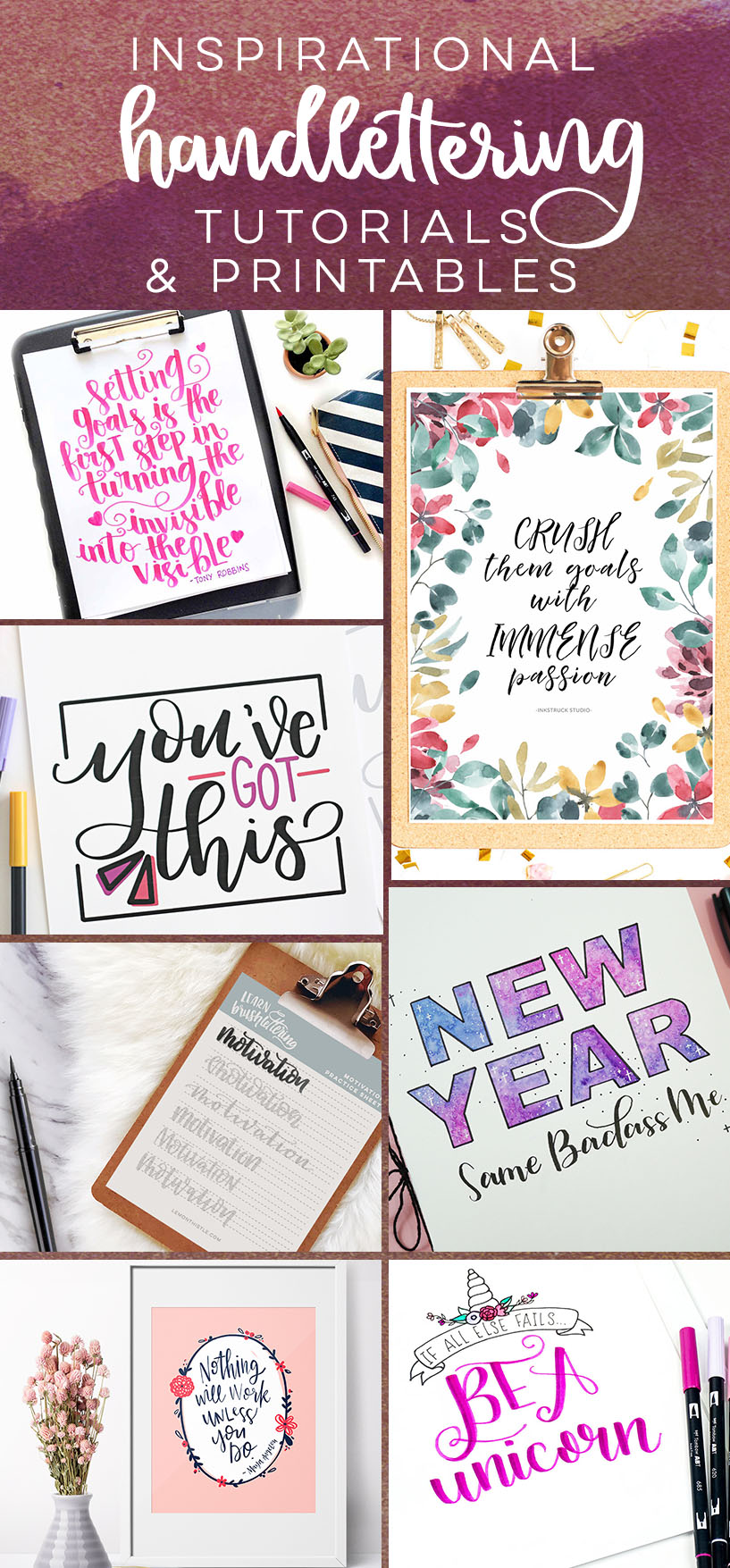 Inspirational Hand Lettering Practice Sheets, Tutorials, and Printables