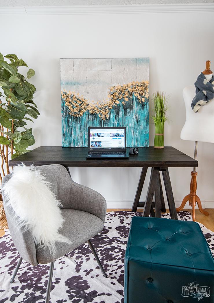 Christina's Boho style workspace