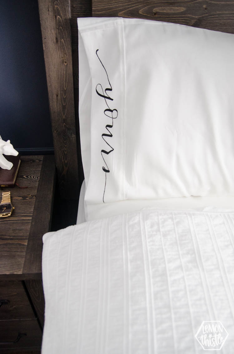 DIY Painted Pillow Cases- Mine & Yours