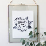 Spring is in the Air- Watercolour Printable