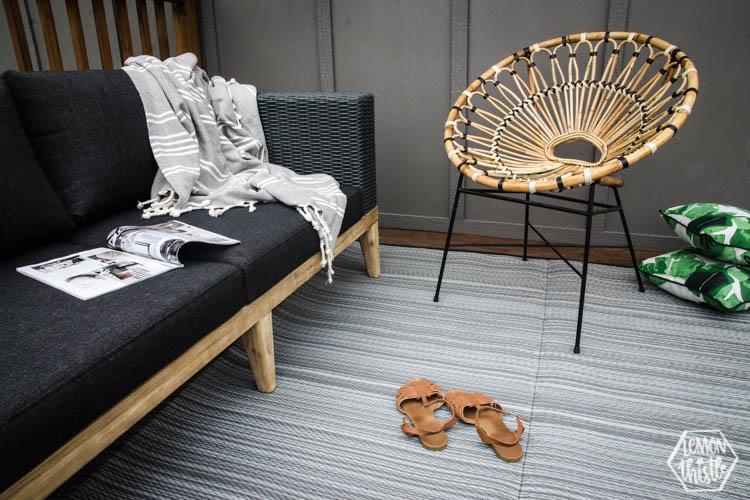 Modern patio set up