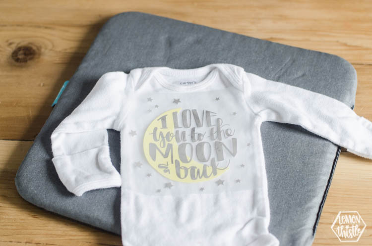 Cricut Iron On Designs for Onesie Making Activity