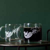 Glass mermaid mug- DIY clear glass mug with white lettering using vinyl