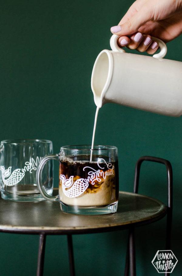 Marmaid design on a mug...