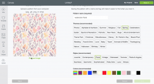 screen shot: How to use slice to pattern fill a shape in Cricut Design Space