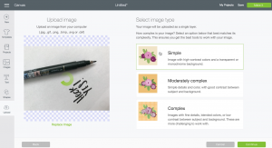 Screenshot: How to upload your own files to Cricut Design Space