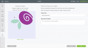 Screenshot: Upload an SVG File to Design Space