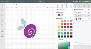 Screenshot: how to upload an SVG file to Cricut design space.