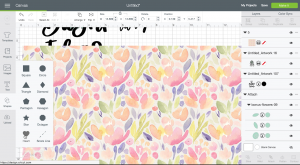 Screenshot: How to use slice to pattern fill a shape in Cricut Design Space