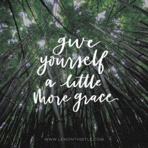 Give yourself a little grace- free printables and tech wallpapers each month