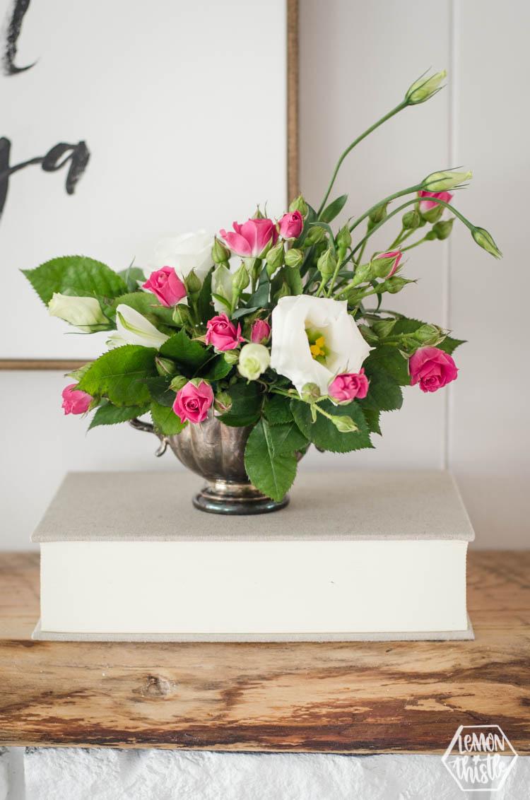 Vintage Floral Arrangement using Floral Wet Foam