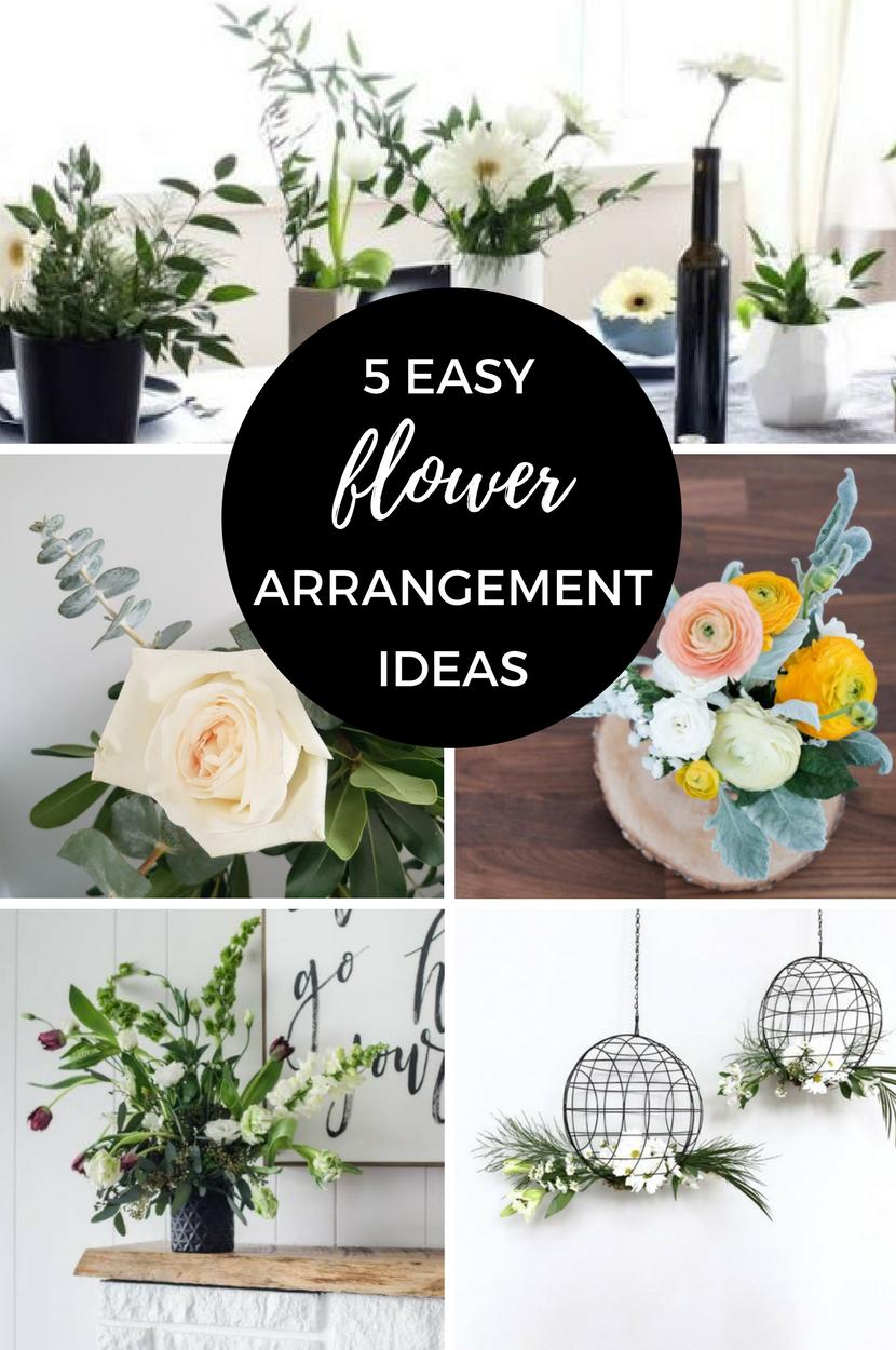 5 Easy flower Arrangement Ideas