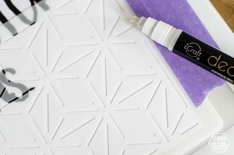 How to stencil adhesive for foil application