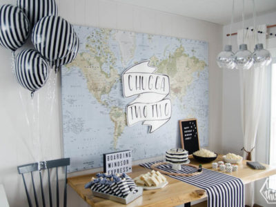 Modern Train Themed Party decor ideas