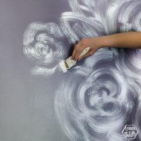 DIY Brush Stroke Floral Mural for a Nursery
