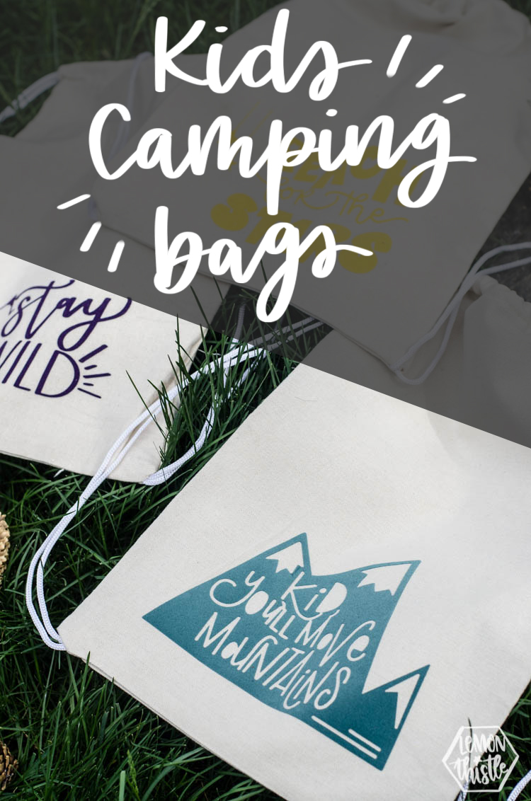 DIY Kids Camping Bags with encouraging designs