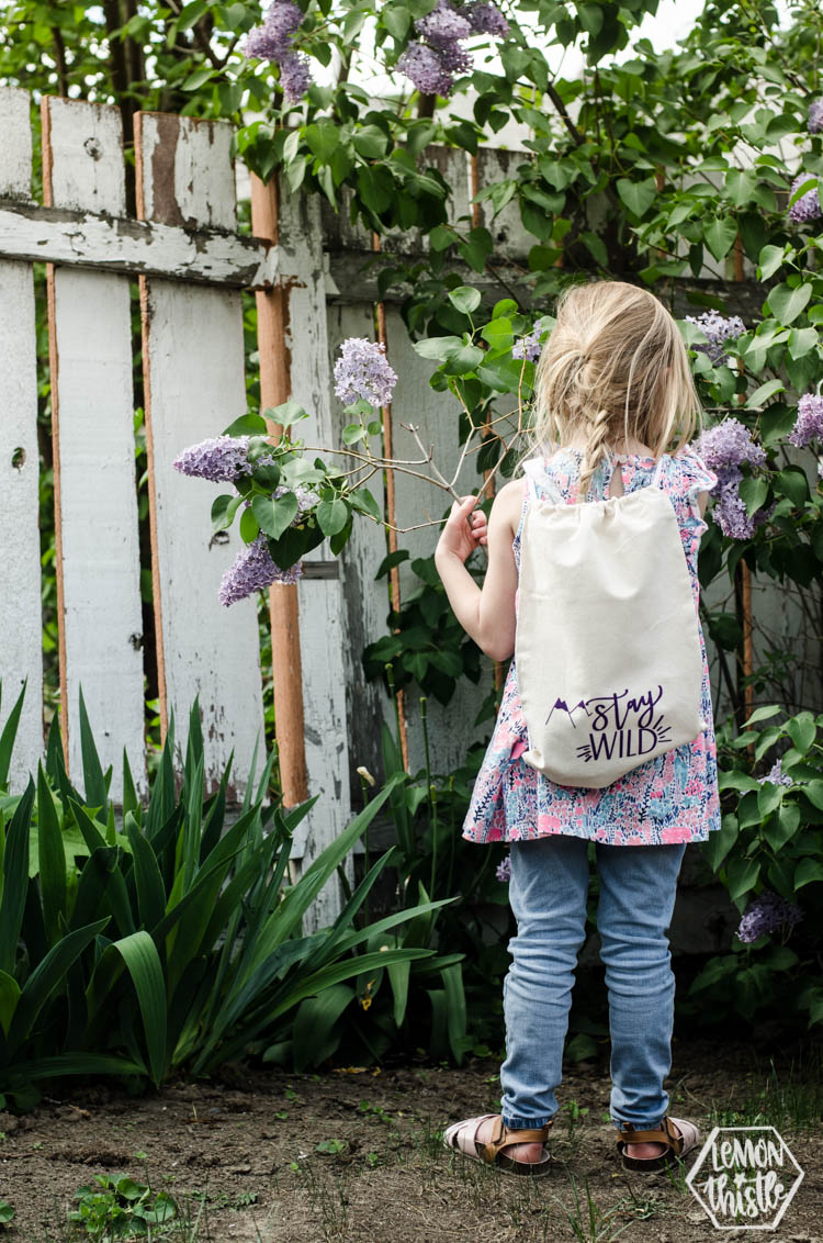 Stay Wild draw string backpack