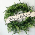 Welcome DIY Wood Sign for Wreath