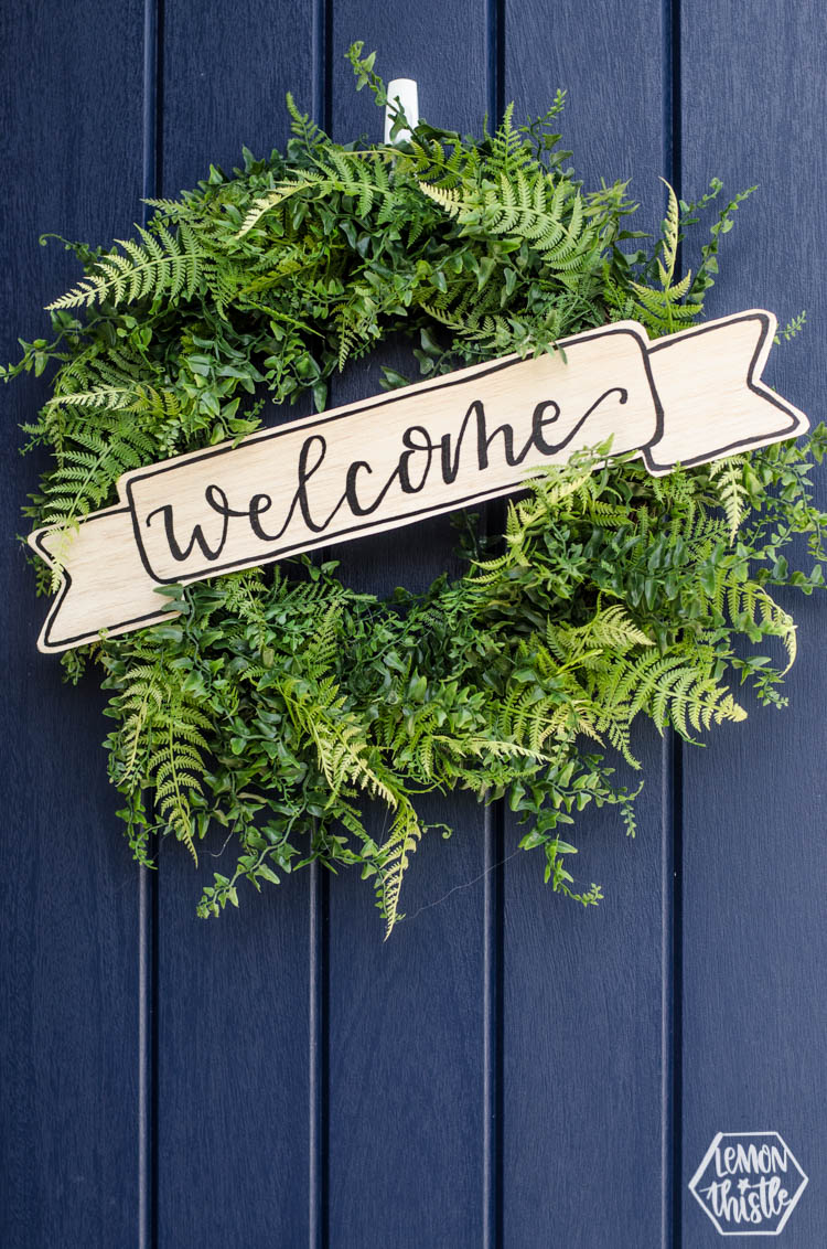 DIY Wood Sign for Wreath