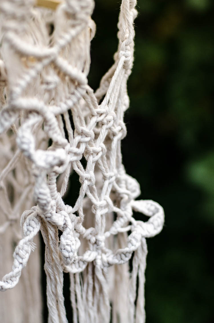 DIY Macrame Chandelier Tutorial