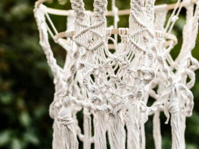DIY Macrame Chandelier Tutorial - such a cute boho decoration