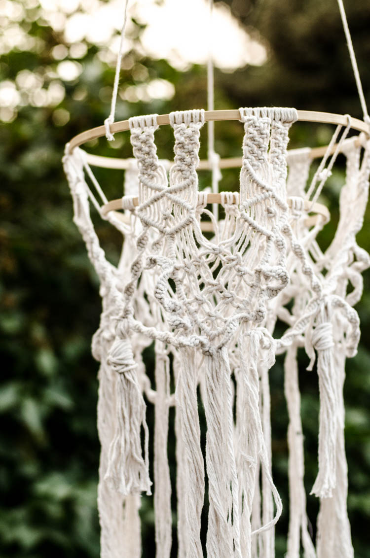 DIY Macrame Chandelier Tutorial - such a cute boho decoration