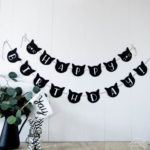DIY Cat Banner – Cat Birthday Party Decor