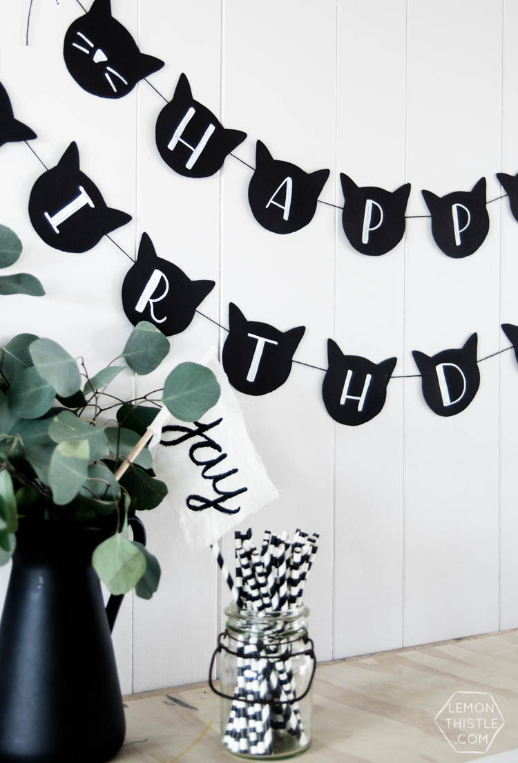 DIY Cat Garland for birthday decor