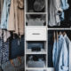 Modern Closet- simple diy makeover with black and white details